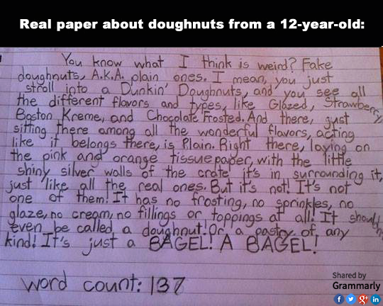 Dissertation from a 12-year-old about doughnuts